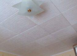 Наклейка потолочной плитки