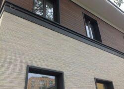 Монтаж фасада из фиброцементных панелей