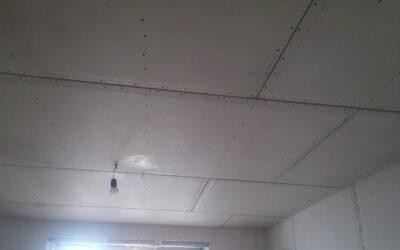 Монтаж потолка 1 уровень ГКЛ