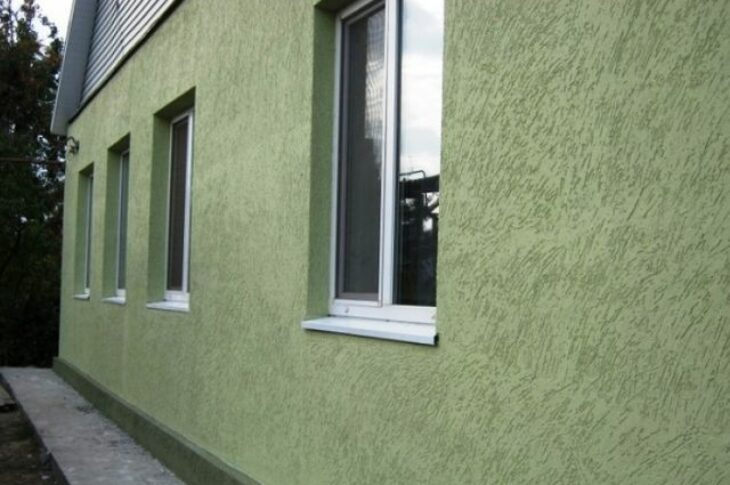 Монтаж штукатурного фасада