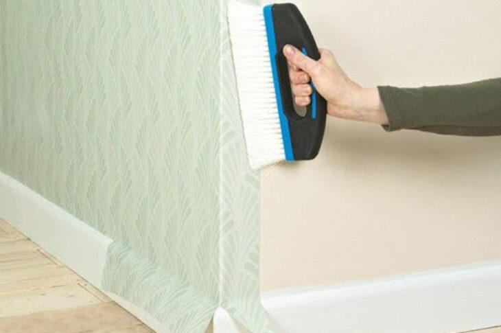 Наклейка флизилина/стеклообоев на стены