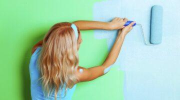 Покраска стен в 2 слоя