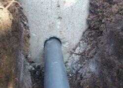 Пробивка отверстий под канализационные трубы
