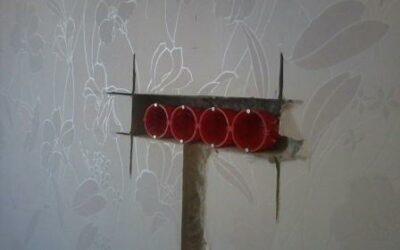 Штробление под электроточку в стене