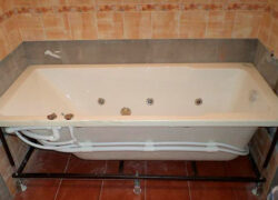 Замена ванны с демонтажем